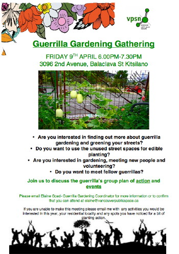 Guerrilla Gardening Meeting Poster