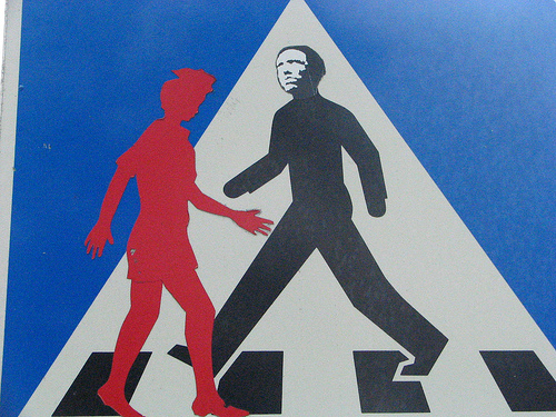 pedestrian crossing sign, Stokholm